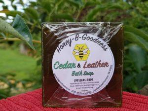 Cedar and Leather Bath Soap