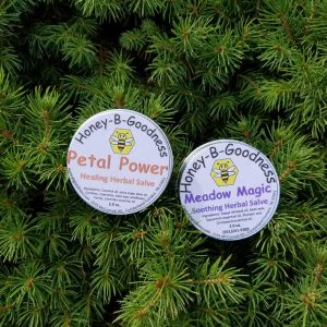 Petal Power and Meadow Magic Herbal Salves | Honey-B-Goodness | Handcrafted salves, soaps, skin care