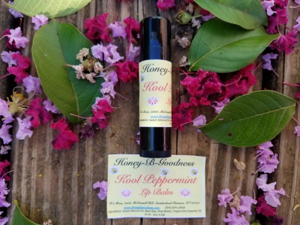 Kool Peppermint Lip Balm | Honey-B-Goodness | Handcrafted salves, soaps, skin care