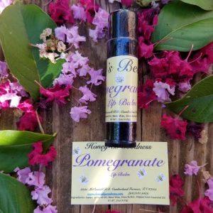 Pomegranate lip balm | Honey-B-Goodness | Handcrafted salves, soaps, skin care