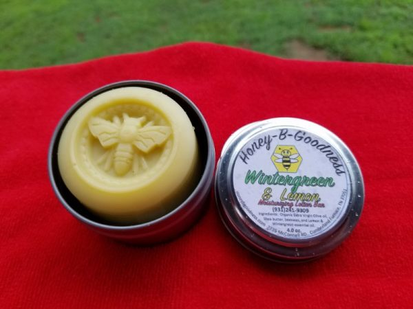 Wintergreen and Lemon Lotion Bar | Honey-B-Goodness | Handcrafted salves, soaps, skin care