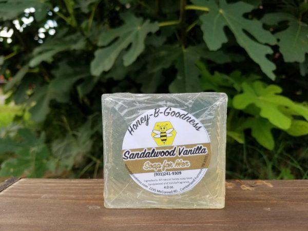 Sandalwood Vanilla Soap for Men | Honey-B-Goodness | Handcrafted salves, soaps, skin care