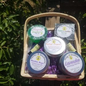 Medium Custom Basket | Honey-B-Goodness | Handcrafted salves, soaps, skin care
